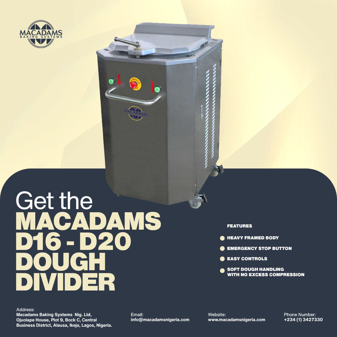D16 – D20 Dough Divider: Now available and in supply